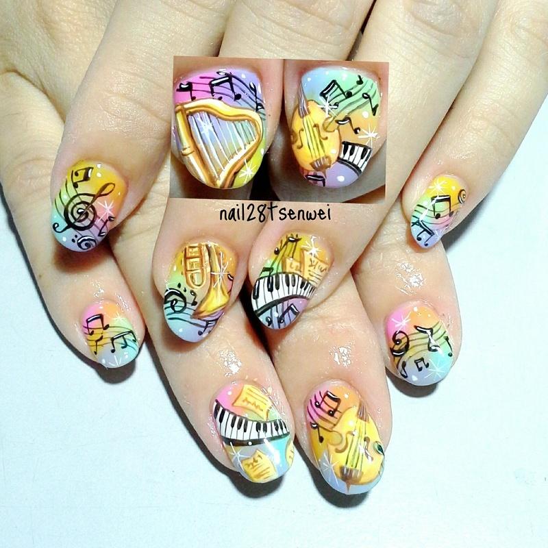 music nail art by Weiwei