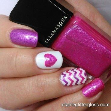 valentine manicure nail art by Emma