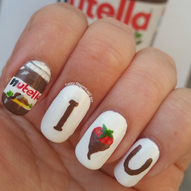 Nutella nails nail art by Funky fingers nail art