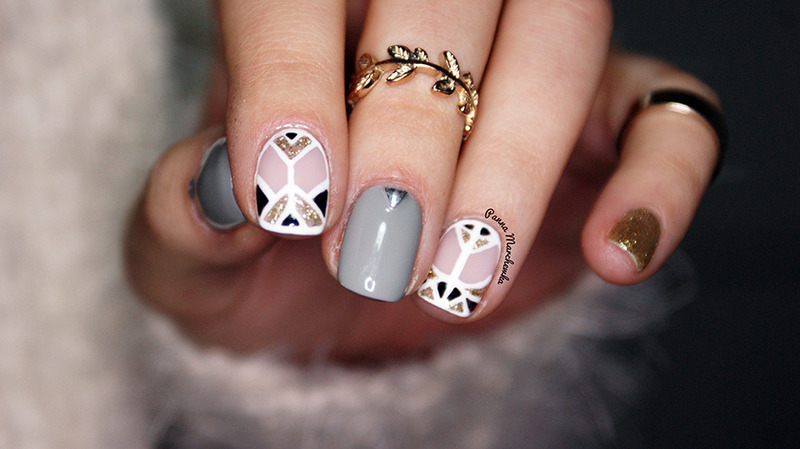 Art Deco Nails  nail art by Panna Marchewka