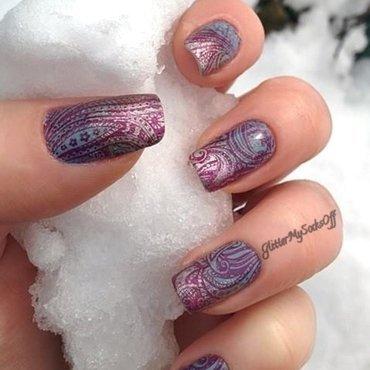 Winter breeze nail art by GlitterMySocksOff