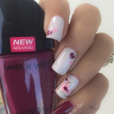 Pretty Love Bird nail art by Sheily (NailsByMae)