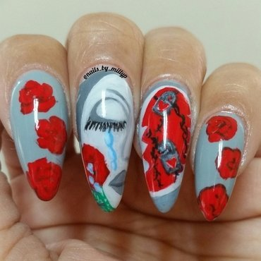 Silent Cry nail art by Milly Palma
