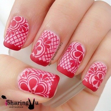 ❤️ Lace Design ❤️ nail art by SharingVu