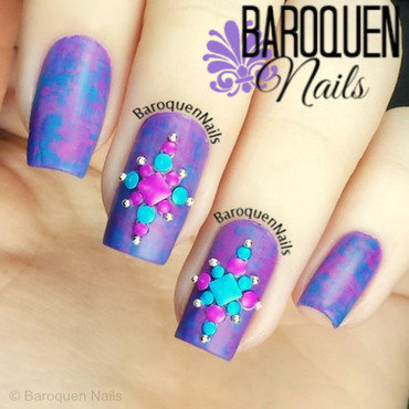 Electric nail art by BaroquenNails