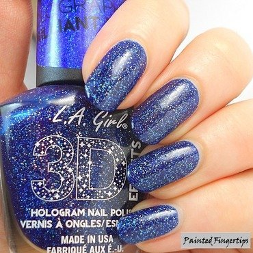 La Girl Brilliant Blue Swatch by Kerry_Fingertips