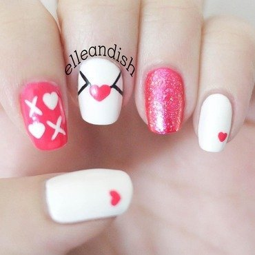 Love Note Nails - Valentine's Day nail art by elleandish