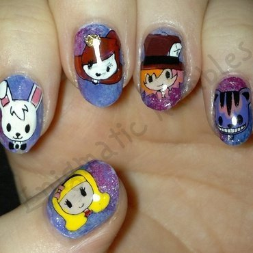 Alice in Wonderland Nails nail art by Enigmatic Rambles