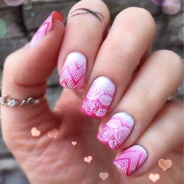 Pink ombré  nail art by Anna-Maria D