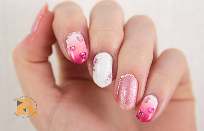 Let's Get Pink! Valentine's Day Design nail art by Robin