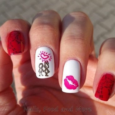 Valentinstag-Nägel nail art by happymami2009