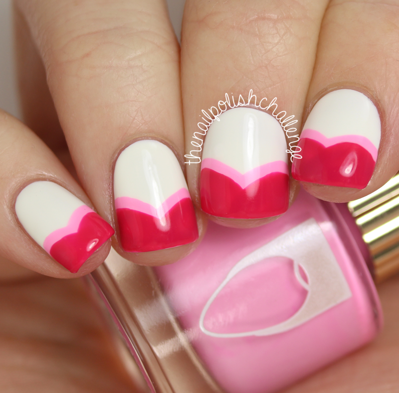 Valentine\'s Heart French Tips nail art by Kelli Dobrin - Nailpolis ...