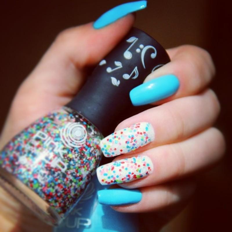 Confetti nail art by cheshirrr