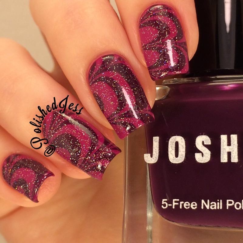 Black Cherry nail art by PolishedJess