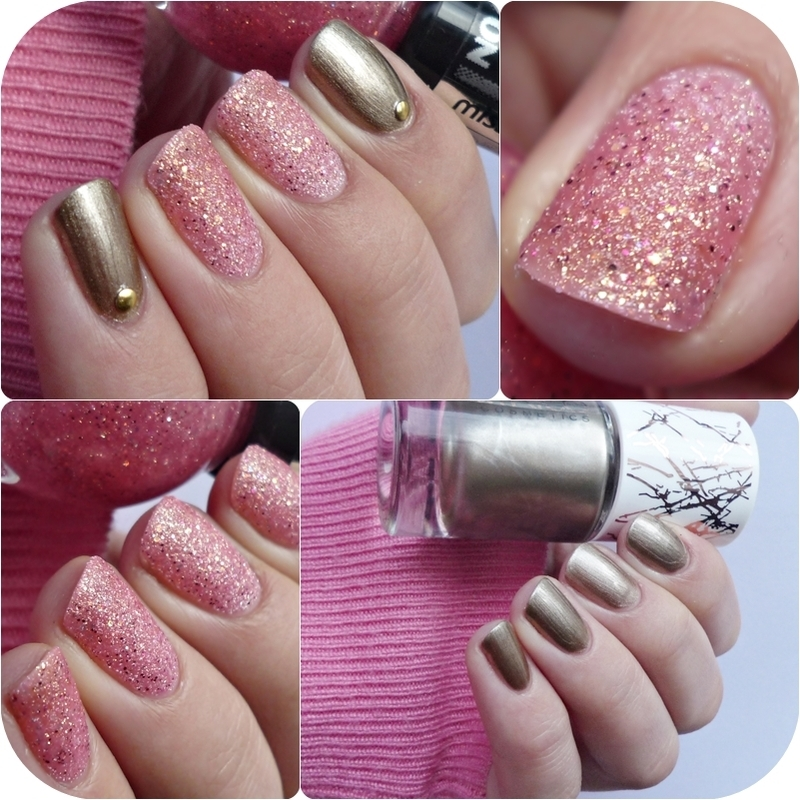 Catrice Metallicious and Miss Sporty Crush on You 065 Pink Bloom Swatch by Romana