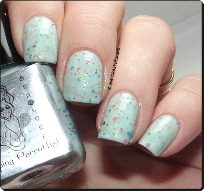 Sea Lore Polish Popping Parrotfish Swatch By Mycrazydesigns