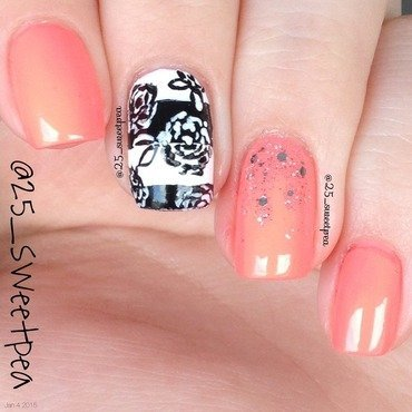 Floral Stripes nail art by 25_sweetpea