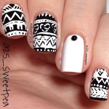 Tribal Inspired by Aeropostale nail art by 25_sweetpea