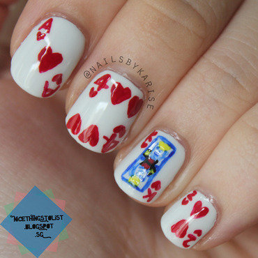 Valentines king of hearts nail art thumb370f