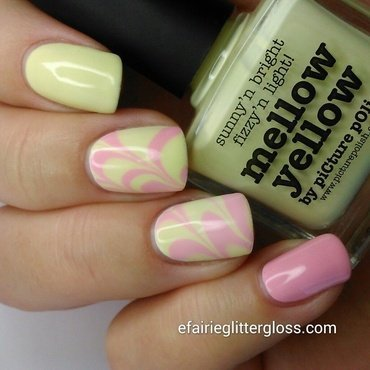 Spring Water Marble nail art by Emma