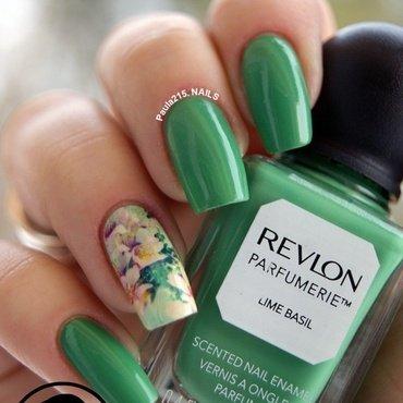 Lime Basil. nail art by Paula215. NAILS
