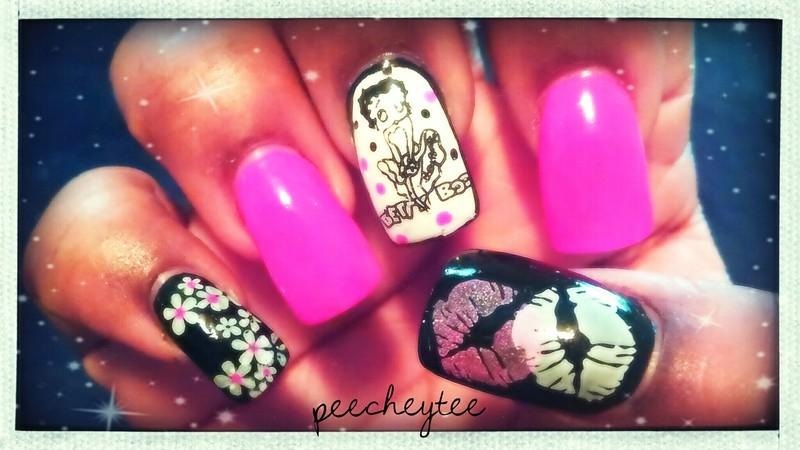 Betty Boop Nail Art By Peecheytee Nailpolis Museum Of Nail Art
