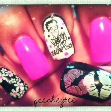 Betty boop nail art by peecheytee