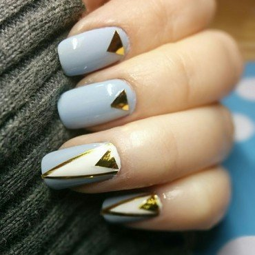Triangles, triangles everywhere  nail art by GlitterMySocksOff