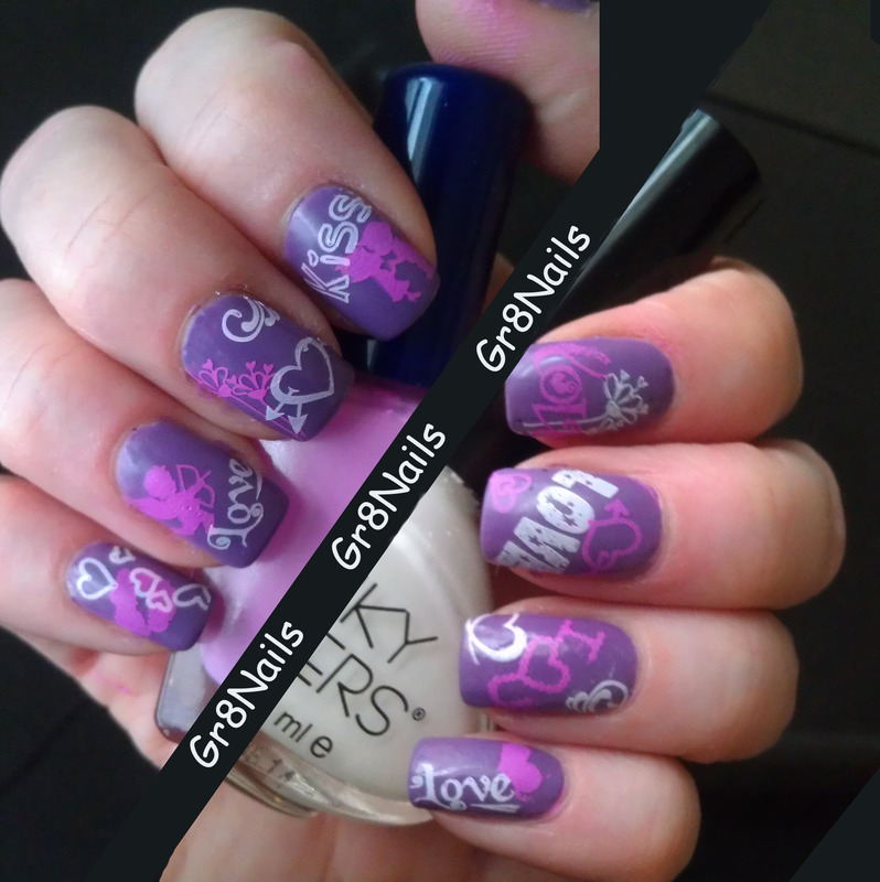 Valentines Day nail art by Gr8Nails