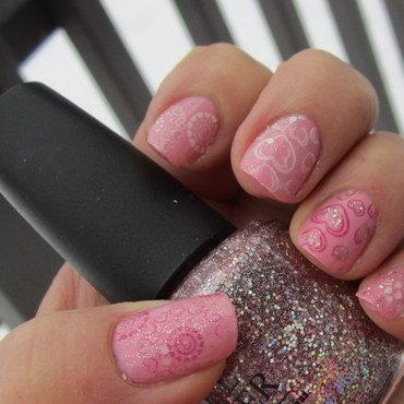I <3 You nail art by HELEN KAY