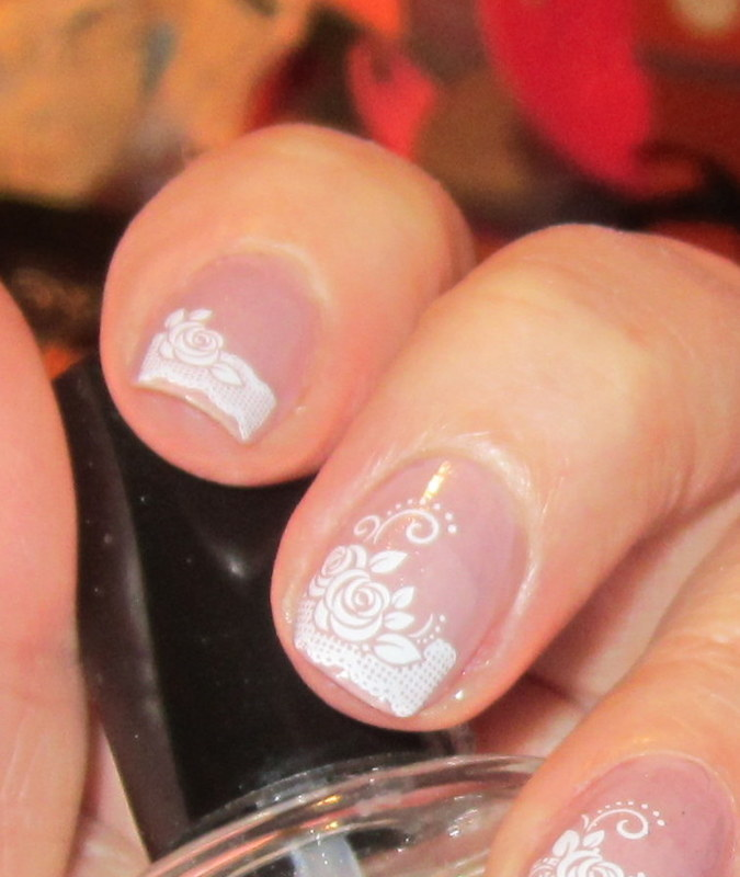 Romantic Decals nail art by HELEN KAY
