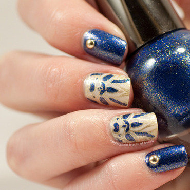 Art deco stamping decal nail art nail art by Zara TracesOfPolish