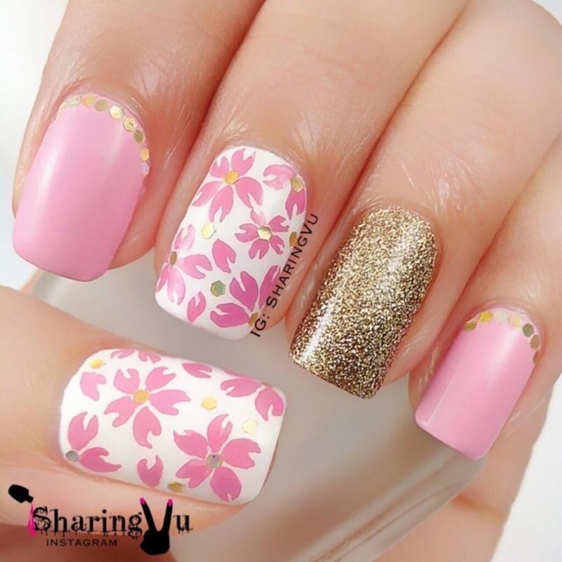 🌸 cherry blossom 🌸 nail art by SharingVu