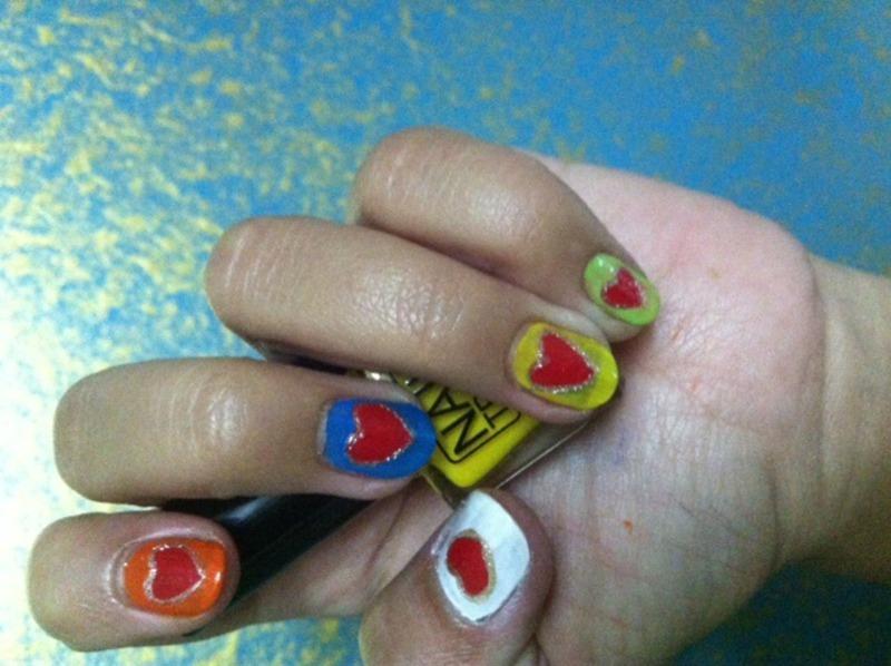 Valentine nail art by Ruchi