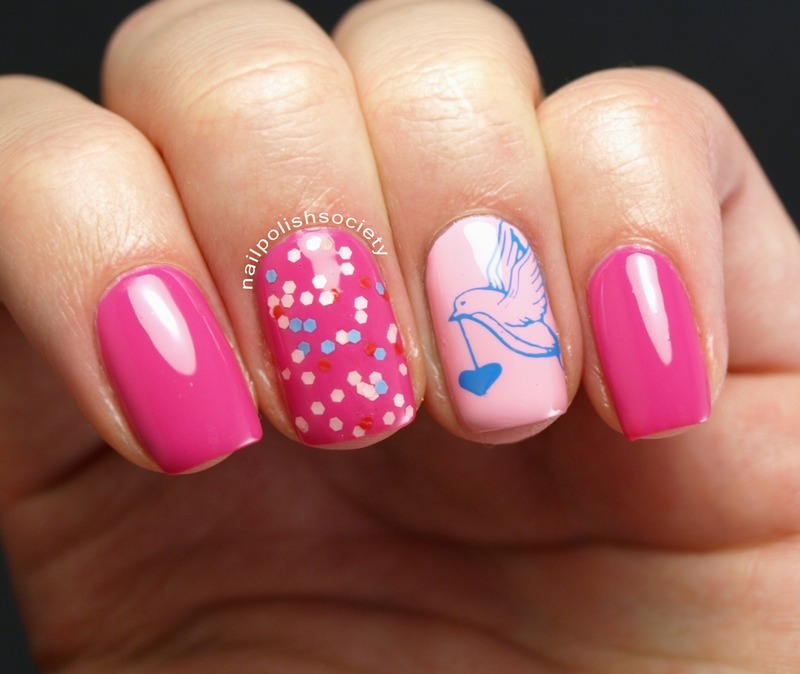 Lovey Dovey Valentine nail art by Emiline Harris