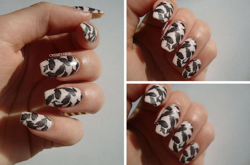 Feathers nail art by Christina