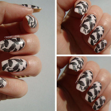 Feathers nail art by Christina