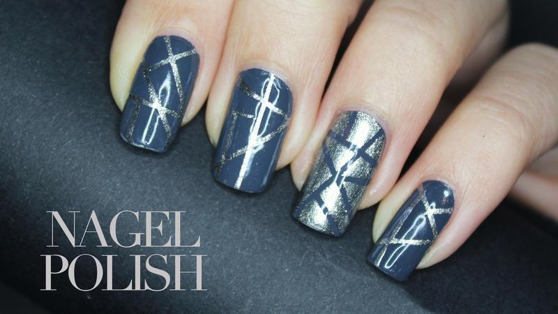 50 Shades of Grey Inspired Nails nail art by Nagel Polish