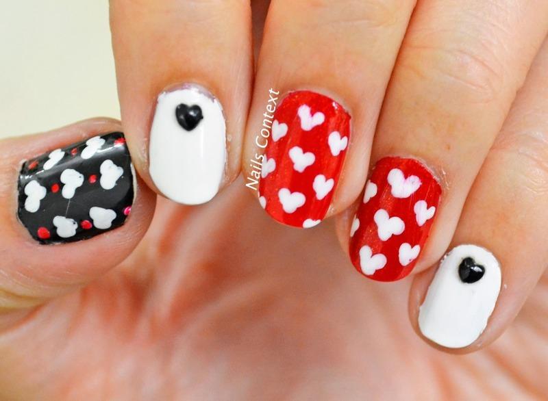 VDay  nail art by NailsContext