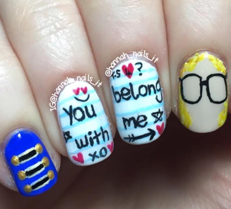 Taylor Swift nail art by Hannah