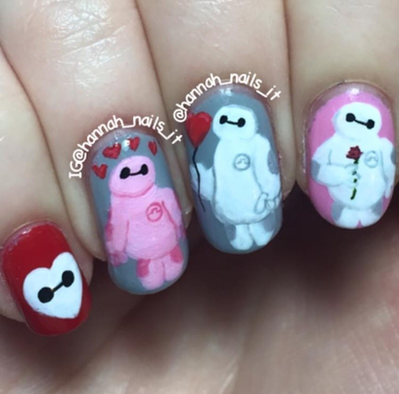 Baymax nail art by Hannah