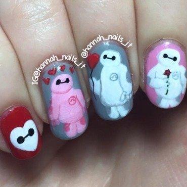 Baymax nail art by Hannah