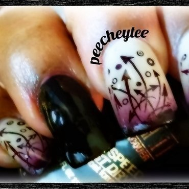orchid arroes nail art by peecheytee