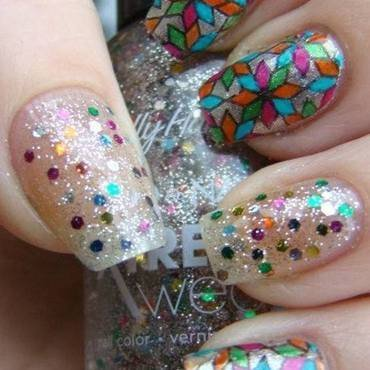 Stained Glass Nails nail art by Pretty Nails by Kasia