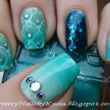 Sea Nails nail art by Pretty Nails by Kasia