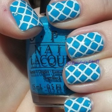 Inspired by a flag nail art by Jenette Maitland-Tomblin