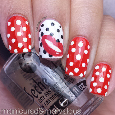 Red Lips nail art by Rose Mercedes