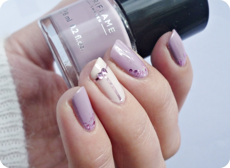 My Lavender Valentine nail art by Romana - Nailpolis: Museum of Nail Art