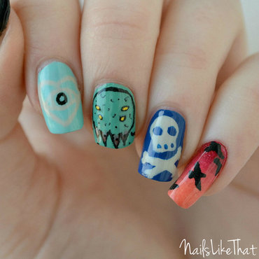 All Time Low nails nail art by Nicole M