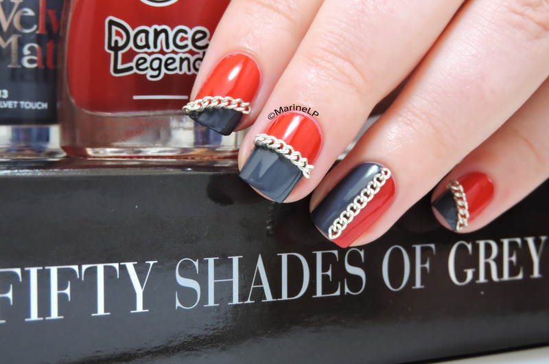 Fifty Shades of Grey nail art by Marine Loves Polish